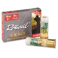 "Rottweil Exact, 20 Gauge, 3"" Shell, 15/16 oz. Slugs, 5 Rounds"
