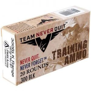 Team Never Quit Training Ammo 300 Aac Blackout 147gr Fmj - 300 Aac Blackout 147gr Full Metal Jacket 20/Box