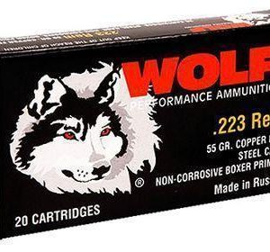 Wolf Performance Centerfire Rifle Ammo - .223 Remington - 55 Grain - 500 Rounds - FMJ