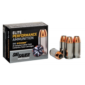 Sig Sauer Elite Performance Pistol Ammunition .380 ACP 90 gr Elite V-Crown JHP Box 20