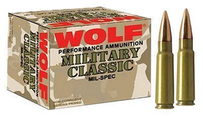 Wolf Military Classic Centerfire Rifle Ammo - .308 Winchester - 168 Grain - 500 Rounds - Soft Point