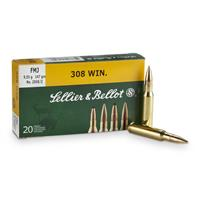 Sellier & Bellot .308 Winchester, FMJ, 147 Grain, 20 Rounds