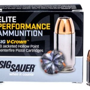 Sig Sauer Elite Performance V-Crown Handgun Ammo - .380 Automatic Colt Pistol