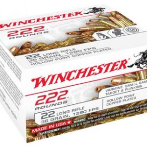 Winchester Bulk Pack Rimfire Ammo - .22 Long Rifle - Plated Hollow Point - 36 Grain - 333 Rounds