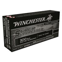 Winchester, Super Suppressed, .300 AAC Blackout, FMJOT, 200 Grain, 20 Rounds