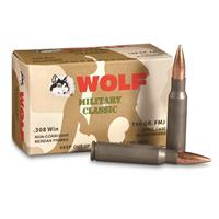 Wolf, .308 Winchester, FMJ, 168 Grain, 20 Rounds