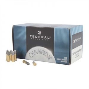 Federal Champion Ammo 22 Long Rifle 40gr Lead Round Nose - 22 Long Rifle 40gr Lead Round Nose 50/Bx