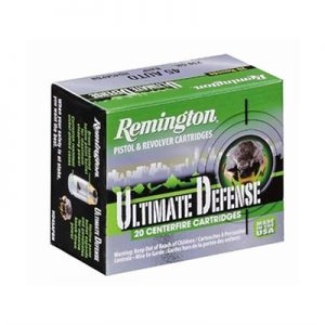 Remington Hd Ultimate Defense Ammo 9mm Luger 124gr Bjhp - 9mm Luger 124gr Brass Jacketed Hollow Point 20/Box