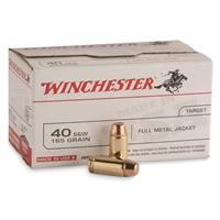Winchester, .40 S&W, FMJ, 165 Grain, Value Pack, 100 Rounds