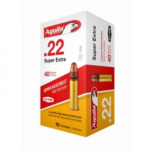 Aguila Superextra High Velocity Ammo 22 Long Rifle 40gr Cprn - 22 Long Rifle 40gr Copper Plated Round Nose 50/Box