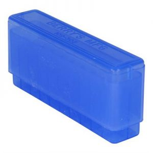 Berrys Manufacturing 20 Round Slip-Top Rifle Ammo Boxes - Blue 30-06 Family 20 Round Slip-Top Ammo Box