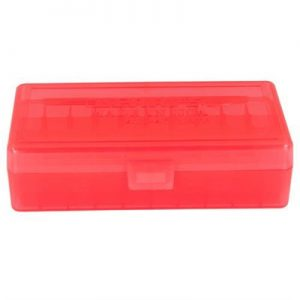 Berrys Manufacturing 50 Round Ammo Boxes - Red 40 S&W/45 Acp 50 Round Ammo Box