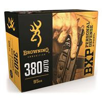 Browning BXP Personal Defense, .380 ACP, X-Point JHP, 95 Grain, 20 Rounds