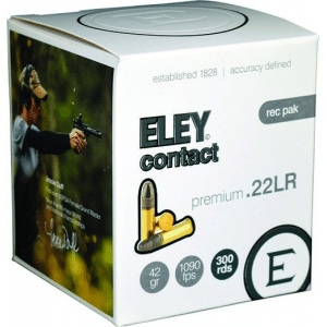 Eley Contact Rimfire Ammunition .22 LR 42gr RN 1090 fps 300/ct