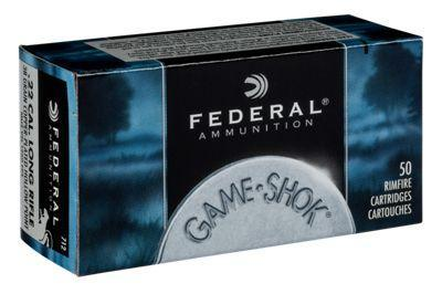 Federal Game-Shok Rimfire Ammo - .22 Long Rifle - 38 gr. - 50 rounds