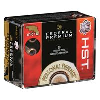 Federal Personal Defense Micro HST, .38 Special +P, JHP, 130 Grain, 20 Rounds
