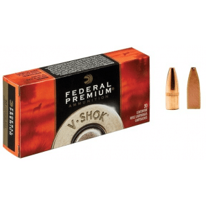 Federal Premium V-Shok Rifle Ammunition .22 Hornet 30 gr TNT HP 3150 fps - 20/box