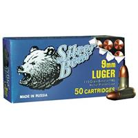 Silver Bear, 9mm Luger, FMJ, 115 Grain, 50 Rounds