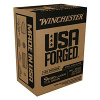 Winchester, USA Forged, 9mm Luger, FMJ, 115 Grain, 50 Rounds