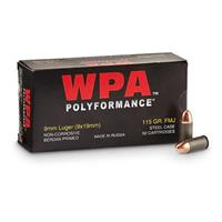 Wolf WPA Polyformance, 9mm Luger, FMJ, 115 Grain, 50 Rounds