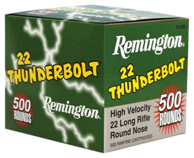 Remington Thunderbolt .22 LR Rimfire Ammo - 50 rounds