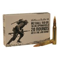 Sellier & Bellot M2 Ball, .30-06 Springfield (M1 GARAND), FMJ, 150 Grain, 20 Rounds