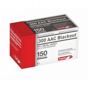 Aguila 300 Aac Blackout 150gr Fmj Rifle Ammo - 300 Aac Blackout 150gr Full Metal Jacket 50/Box