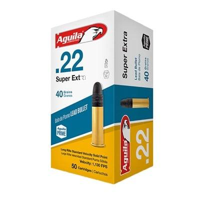 Aguila Superextra Standard Velocity Ammo 22 Long Rifle 40gr Lead Rn - 22 Long Rifle 40gr Lead Round Nose 50/Box