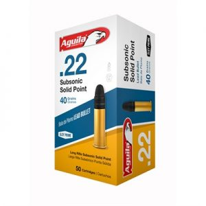 Aguila Superextra Subsonic Ammo 22 Long Rifle 40gr Lead Round Nose - 22 Long Rifle 40gr Lead Round Nose 50/Box