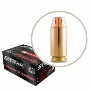 Ammo Incorporated Streak Cold Tracer 40 S&W Ammo - 40 S&W 180gr Jhp Red Tracer 20/Box