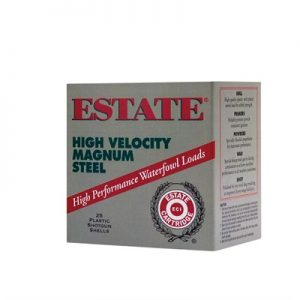 "Federal Estate High Velocity Magnum Steel 12 Gauge 3"" Ammo - 12 Gauge 3"" 1-1/4 Oz #3 Shot 250/Case"