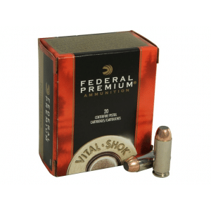 Federal Premium Vital-Shok Handgun Ammunition 10mm Auto 180 gr JSP 1275 fps 20