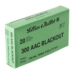 Sellier & Bellot 300 Aac Blackout 147gr Fmj Ammunition - 300 Aac Blackout 147gr Full Metal Jacket 200/Case