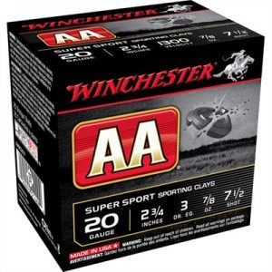 "Winchester Aa Supersport Ammo 20 Gauge 2-3/4"" 7/8 Oz #7.5 Shot - 20 Gauge 2-3/4"" 7/8 Oz #7.5 Shot 25/Box"