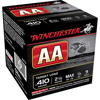 "Winchester Aa Target Ammo 410 Bore 2-1/2"" 1/2 Oz #9 Shot - 410 Bore 2-1/2"" 1/2 Oz #9 Shot 25/Box"