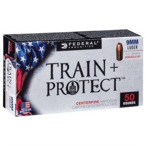 Federal Train + Protect Ammo 9mm 115gr Versatile Hollow Point - 9mm 115gr Versatile Hollow Point 50/Box