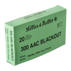 Sellier & Bellot 300 Aac Blackout 124gr Fmj Ammunition - 300 Aac Blackout 124gr Fmj 20/Box