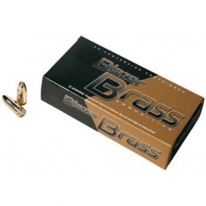 CCI Blazer Brass Handgun Ammunition .380 ACP 95 gr FMJ 945 fps 500/ct