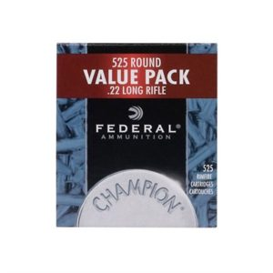Federal Champion Ammo 22 Long Rifle 36gr Copper Plated Hollow Point - 22 Long Rifle 36gr Copper Plated Hollow Point 525/Box
