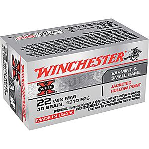 Winchester .22 Magnum FMJ Ammunition with Dry-Storage Box
