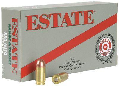 Estate Cartridge Range and Target Centerfire Handgun Ammo - .40 S&W - 165 Grain - 50 Rounds
