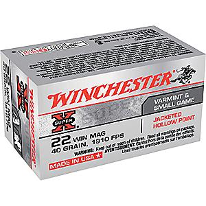 Winchester .22 Magnum JHP Ammunition with Dry-Storage Box