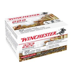 Winchester Usa White Box 22 Long Rifle Ammo - 22 Long Rifle 36gr Copper Plated Hollow Point 222/Box