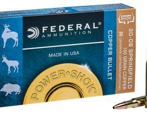 Federal Power Shok Copper Centerfire Rifle Ammo - .270 - 20 rounds