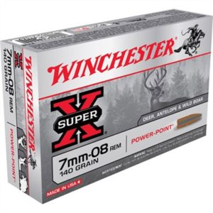 Winchester Super-X Ammo 7mm-08 Remington 140gr Power-Point - 7mm-08 Remington 140gr Power-Point 20/Box