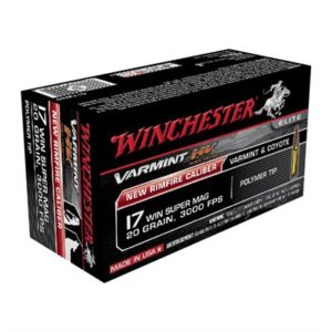 Winchester Varmint High Velocity 17 Winchester Super Magnum Ammo - 17 Win Super Mag 20gr Polymer Tip 50/Box