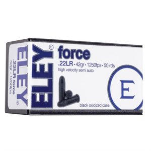 Eley Americas Force Ammo 22 Long Rifle 42gr Lead Round Nose - 22 Long Rifle 42gr Lead Round Nose 50/Box