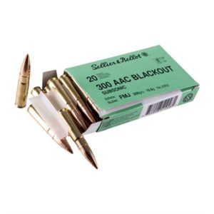 Sellier & Bellot 300 Aac Blackout 200gr Subsonic Fmj Ammo - 300 Aac Blackout 200gr Subsonic Fmj 1,000/Case