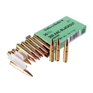 Sellier & Bellot 300 Aac Blackout 200gr Subsonic Fmj Ammo - 300 Aac Blackout 200gr Subsonic Fmj 20/Box