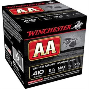 "Winchester Aa Supersport Ammo 410 Bore 2-1/2"" 1/2 Oz #7.5 Shot - 410 Bore 2-1/2"" 1/2 Oz #7.5 Shot 25/Box"